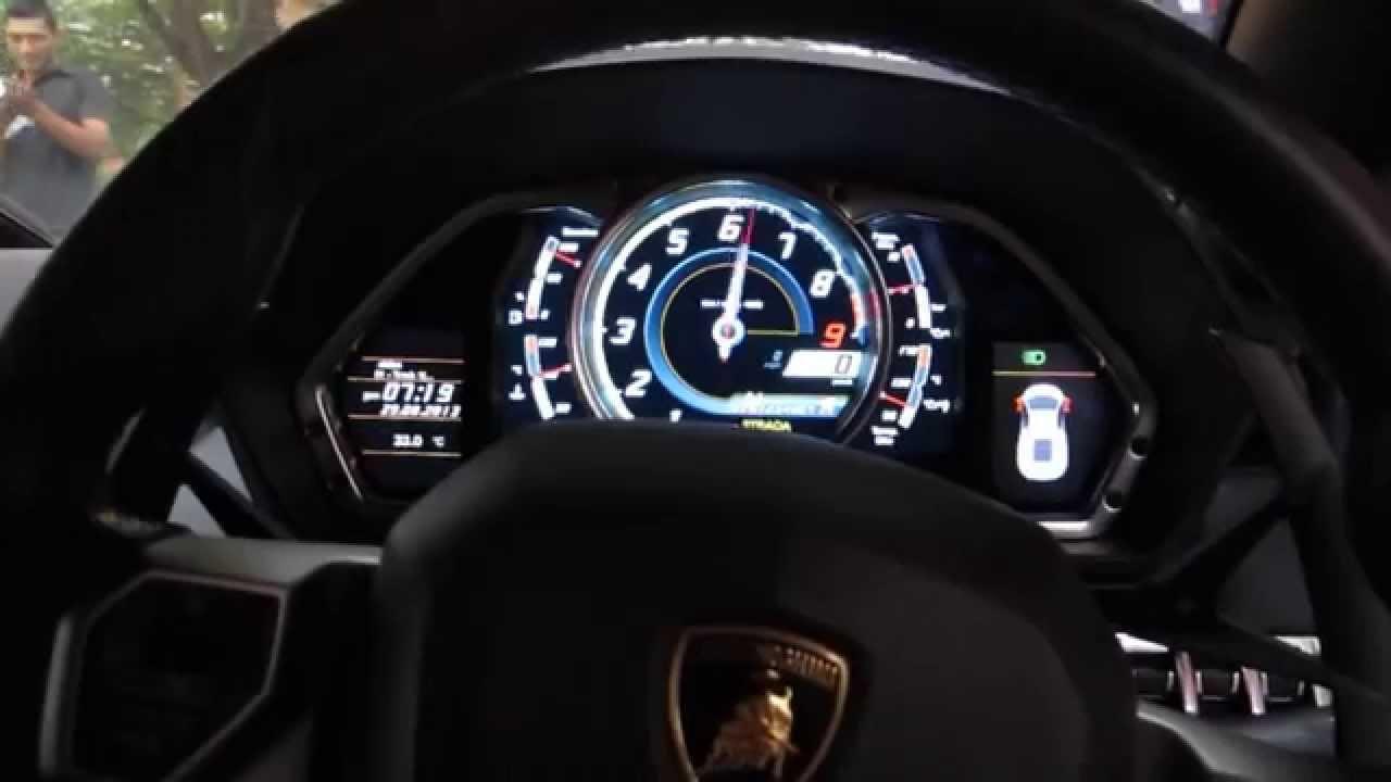 Lamborghini Aventador Lp700 4 Rev Sound Cockpit View