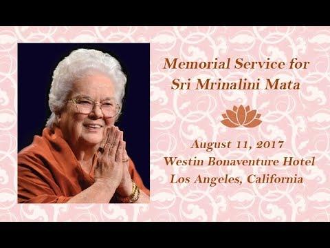 Sri Mrinalini Mata Memorial Service