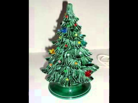 Ceramic christmas tree with lights decorations - YouTube