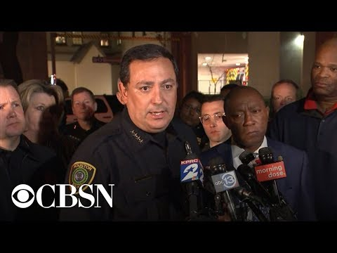 Houston police chief gives update on wounded officers in shooting, live stream