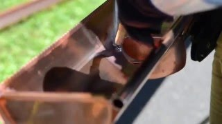 Seamless Copper Gutter Installation