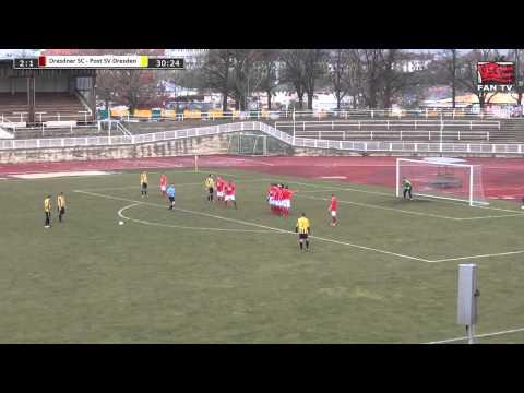 Tor: Dresdner SC 1898 2:2 Post SV Dresden