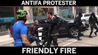 ANTIFA Protester Gets Wrecked