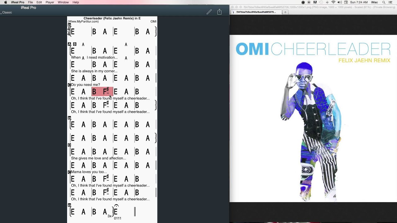 Cheerleader Chords At Mypartitur Omi Youtube