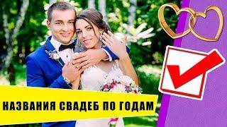Названия свадеб по годам (Годовщины от 0 до 100 лет)