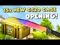 NEW CS20 CASE OPENING! 😍 15x CS20 Case + 10x CS20 Sticker Capsule Unboxing