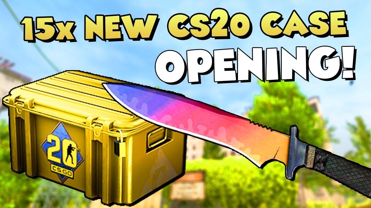 NEW CS20 CASE OPENING! 😍 15x CS20 Case + 10x CS20 Sticker Capsule Unboxing