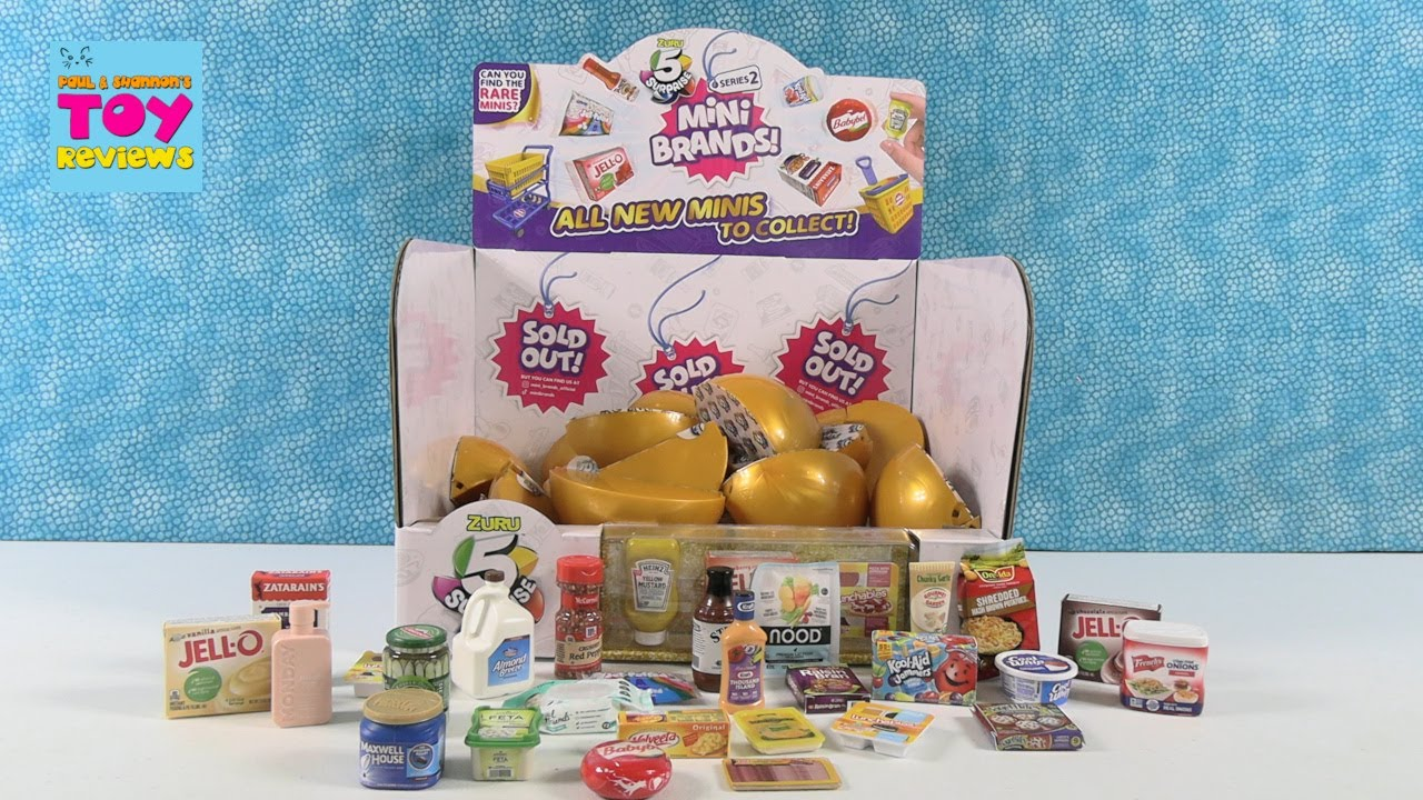 Mini Brands Series 2 Wave 2 5 Surprise Blind Bag Opening | PSToyReviews