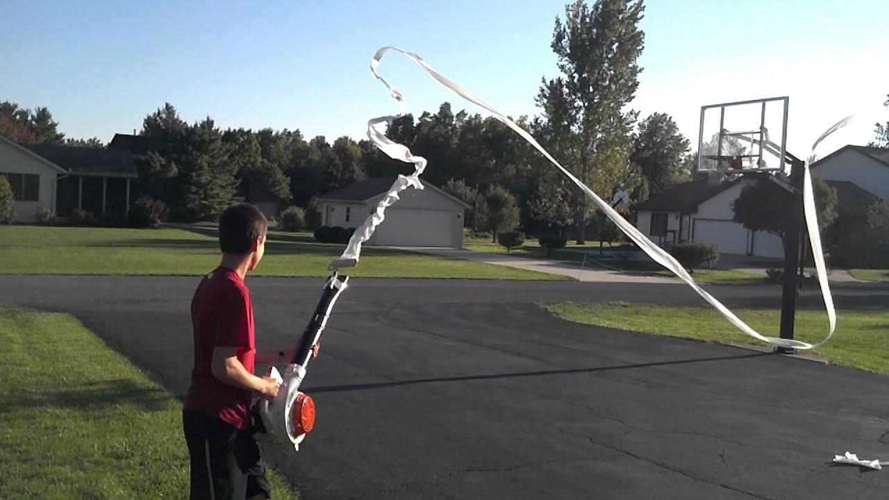 Leaf Blower Toilet Paper Gun Youtube