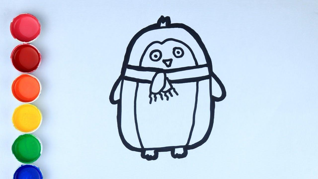 Cara Menggambar Dan Mewarnai Mainan Pinguin