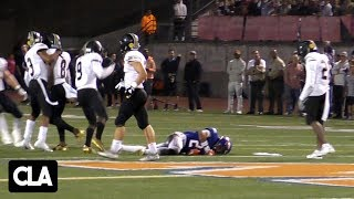 High School Football Hits Compilation *KNOCKOUTS, HELMETS FLY!