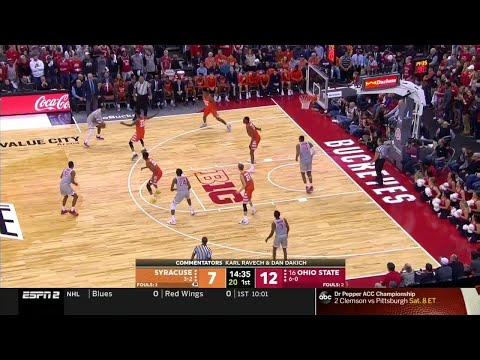 First Half Highlights: Syracuse at Ohio State | Big Ten Basketball | ACC/Big Ten Challenge