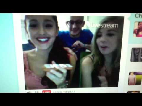Ariana Grande calling a Fan on Live Chat