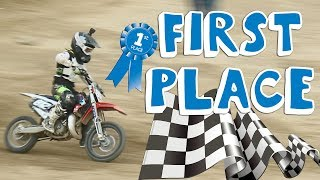 KID TAKES FIRST PLACE ON MOTORCYCLE (GLENN HELEN MX PART 2)