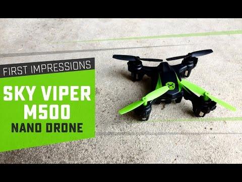Sky Viper M500 Nano Drone Unboxing