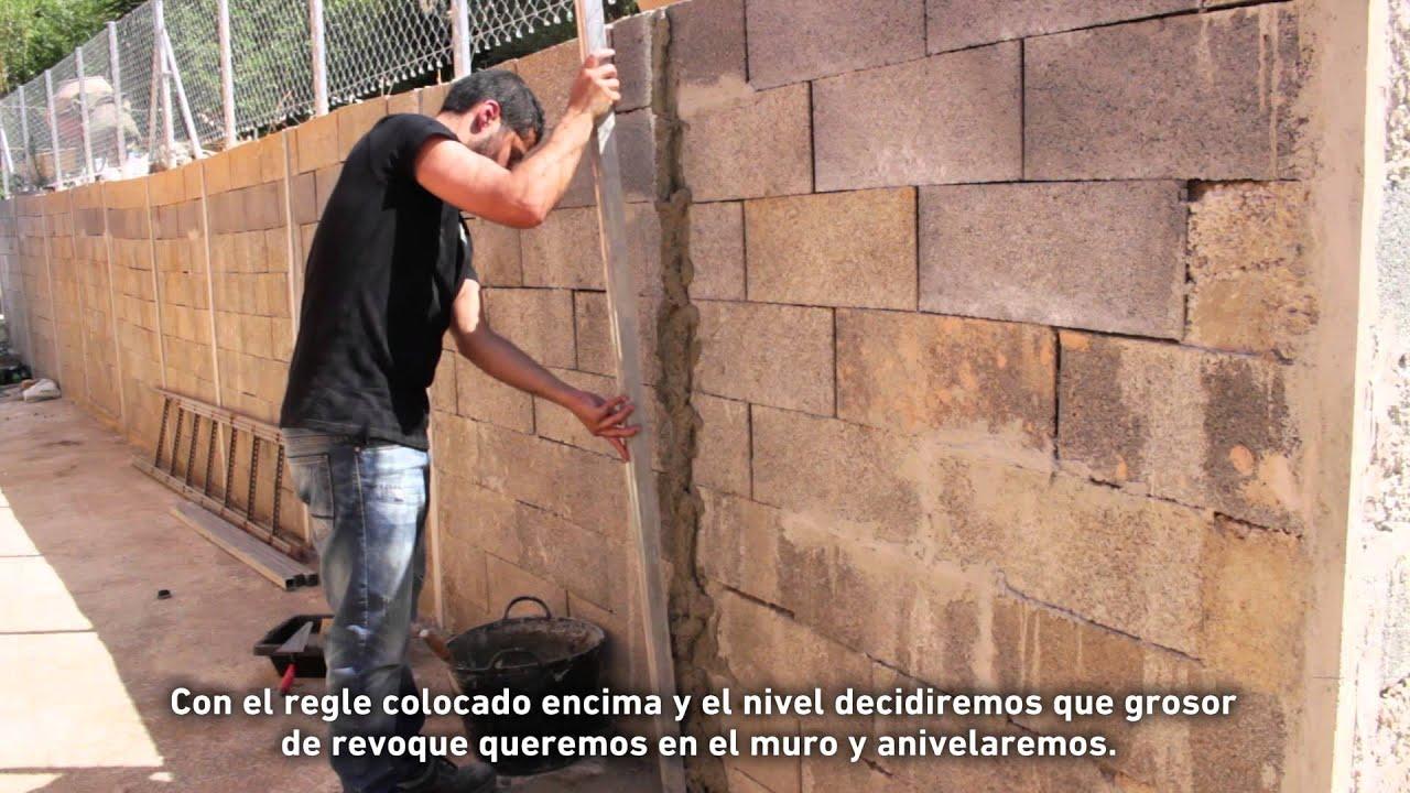 Cmo revocar un muro con mortero  YouTube