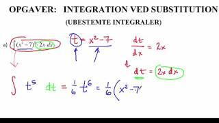 Integration ved substitution - Opgave 1