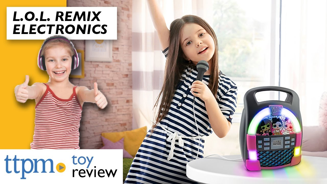 eKids LOL Surprise Store Hours of Music with Built in Memory USB Port Record Remix OMG Bluetooth Karaoke Machine MP3 Player Portable with LED Disco Light Show Real Working Microphone