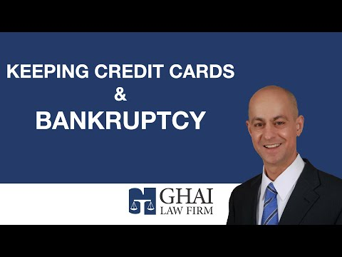 Keeping Credit Cards & Bankruptcy