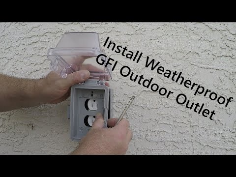 How to Install an Exterior Outlet on a Foundation and Tie-In to Main Panel From Start to Finish
