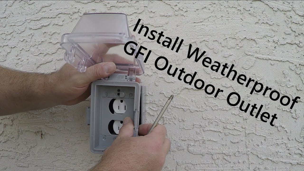 How To Install An Exterior Outlet On A Foundation And Tie In To Main Panel From Start To Finish