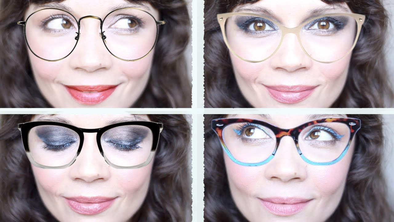 Maquillajes para gafas y gafas para cada forma de rostro | Makeup ...