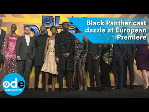Black Panther cast dazzle at the European Premiere