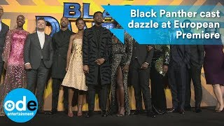 Black Panther cast dazzle at the European Premiere