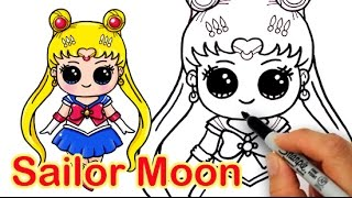 How to Draw Sailor Moon Cute and Easy