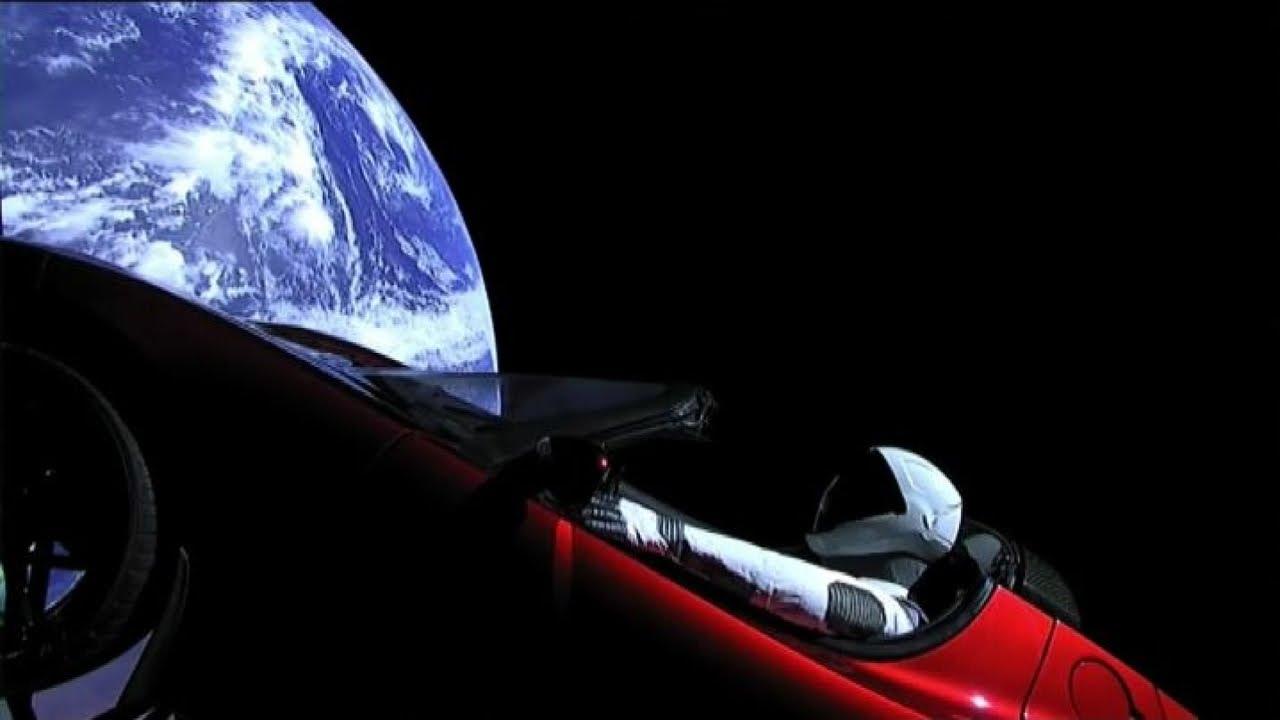Elon Musk Car In Spac Wallpaper Un Automobile Nello Spazio La Tesla Di Elon Musk In