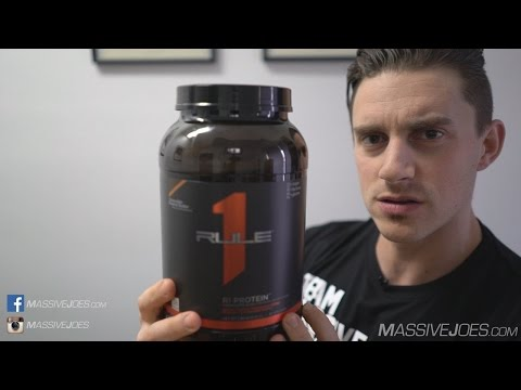 Rule 1 R1 Whey Protein Isolate Powder Supplement Review - MassiveJoes.com RAW Review WPI