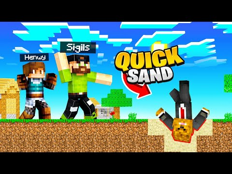 Building a QUICKSAND TRAP in Camp Minecraft