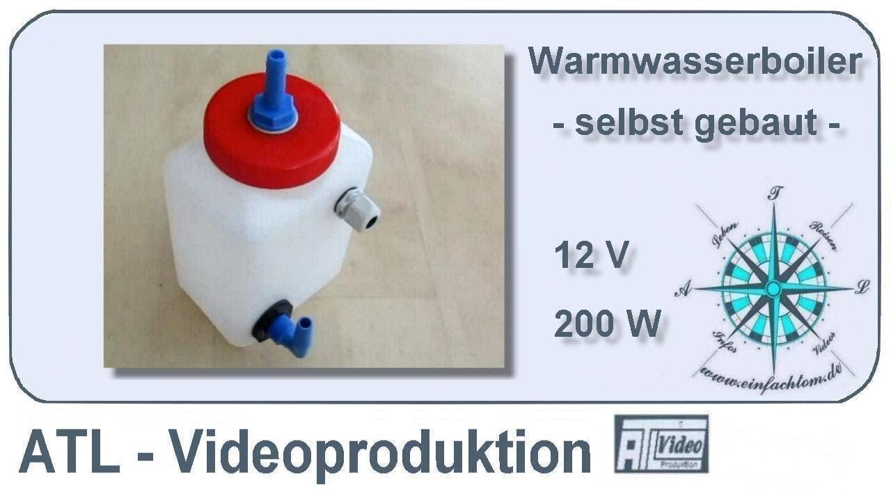 12V Warmwasserboiler - YouTube