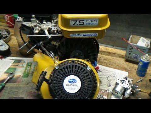ремонт двигателя от мотоблока  Subaru Ex21