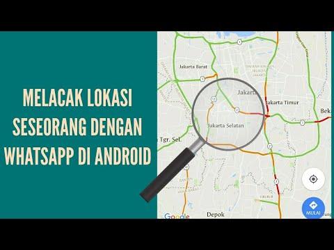 Melacak lokasi seseorang dengan WhatsApp di android