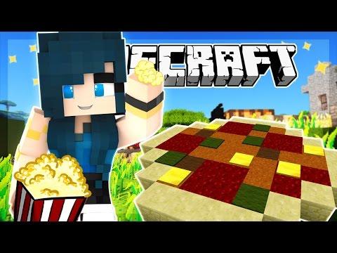 Minecraft - BUILDING PIZZA AND POPCORN! FOOD MANIA! - Team Build Battle (Minecraft Minigame)