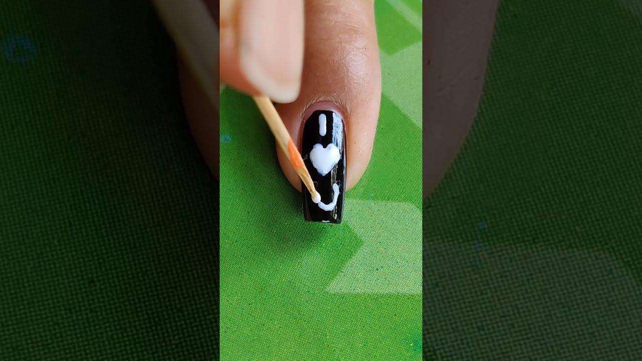 I ❤️ U Nail Art😌 Valentine's Day Special Nail Art #Shorts