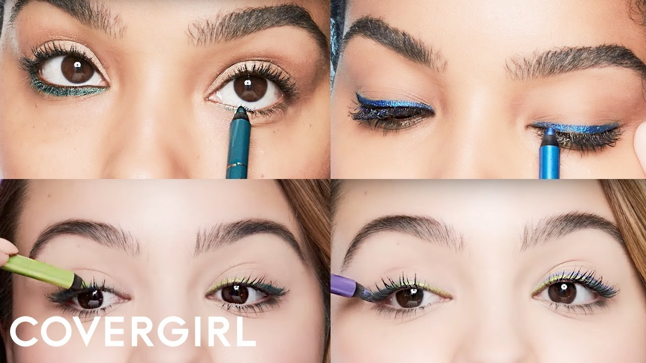 eye makeup tips how to rock colored eyeliner covergirl youtube. Black Bedroom Furniture Sets. Home Design Ideas