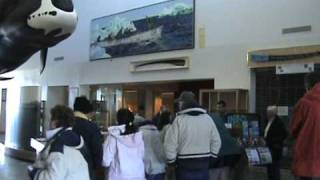 The enterance to the Inupiat Heritage Center.