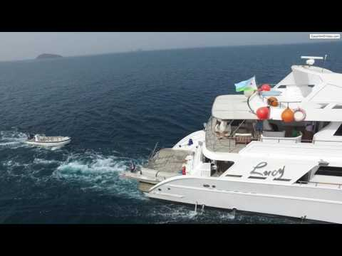 M/Y Lucy at Seven Brother Islands, Djibouti
