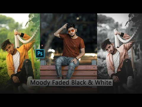 Moody Faded Black & White Outdoor  Photoshop Tutorial | Altaf creations thumbnail