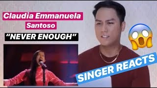 Claudia Emmanuela Santoso - Never Enough | The Voice Of Germany | SINGER REACTS