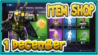 Fortnite ITEM SHOP December 1st all new SKINS and EMOTES-Playr NINE-English Fortnite EN