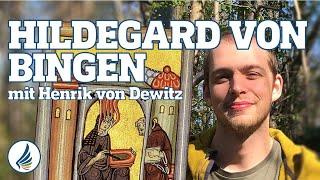 Hildegard von Bingen mit Henrik - Ausbildung Wildkräuterschule
