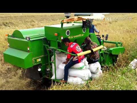 #Vlog 2.8 - Wow ... Mesin panen padi modern / Alat panen padi / mesin canggih panen padi / Combine H