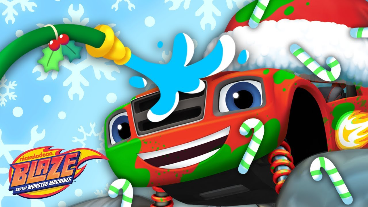 Holiday Car Wash Surprise #8 🎄🎁 w/ the Monster Machines! | Blaze and the Monster Machines
