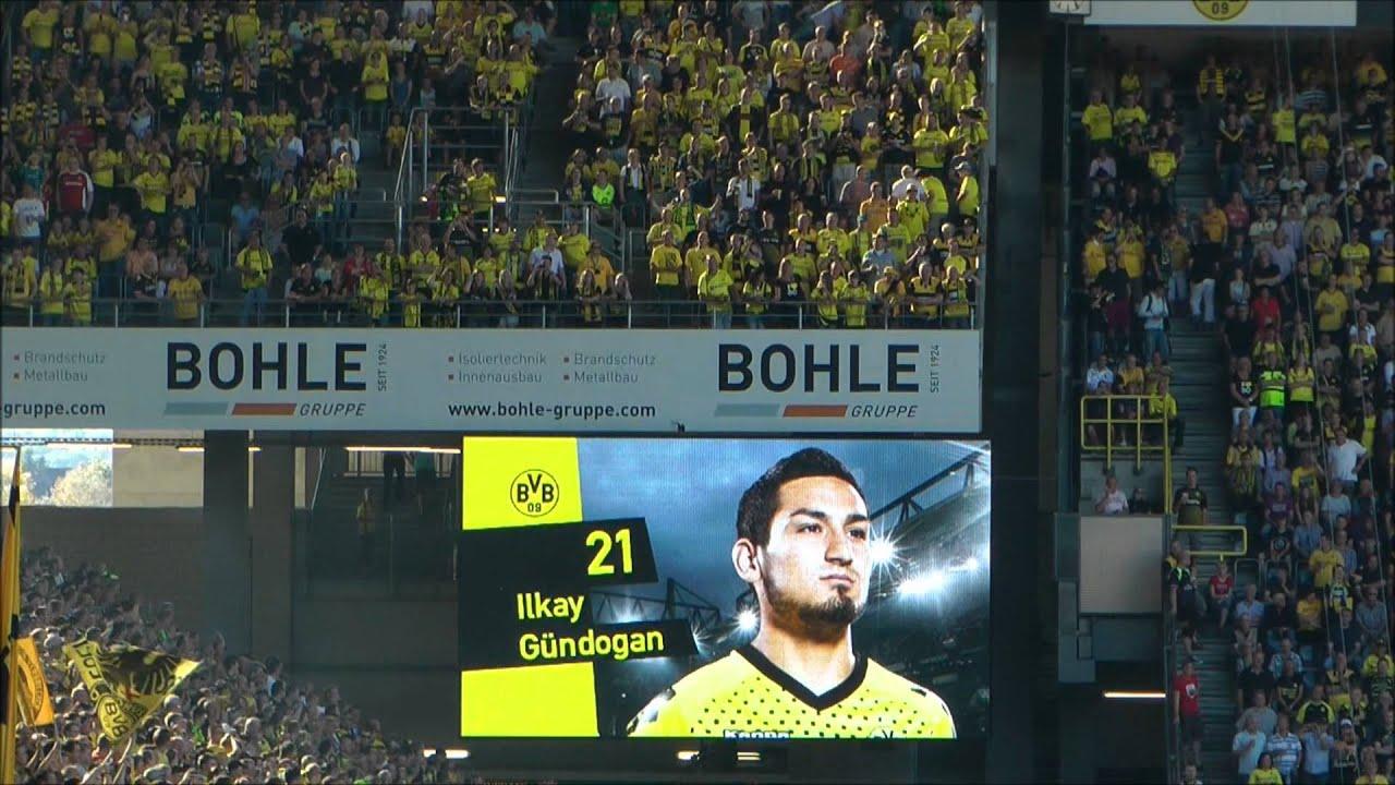 Dortmund vs Augsburg 4-0 Borussia Dortmund BVB Augsburg Mannschaftsaufstellung