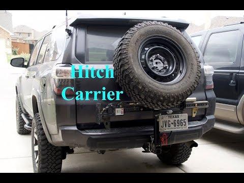 Folding Tire Hitch Carrier Build + License Plate / Hi-Lift Mounts - S2E49