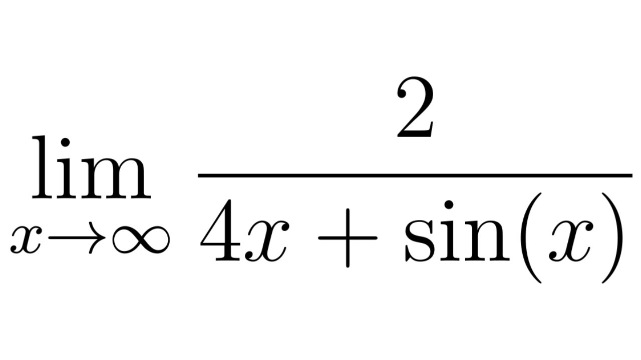 Calculus Limits At Infinity The Limit Of 2 4x Sin X