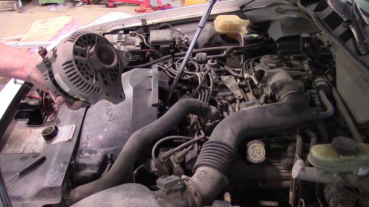 medium resolution of alternator replacement 1996 mercury grand marquis